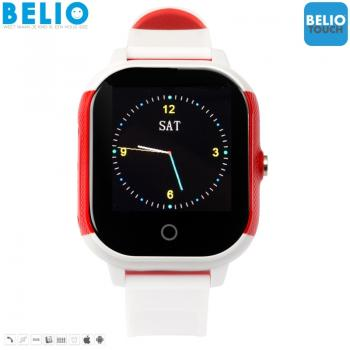 BELIO©TOUCH WIT-ROOD- GPS HORLOGE KIND