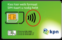KPN Prepaid Simkaart t.w.v € 10,-
